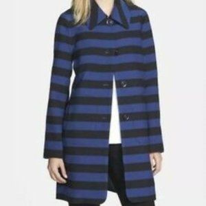 Trina Turk Zoe Striped Black/Blue Peacoat